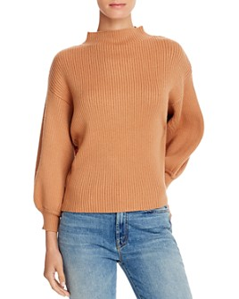 Line & Dot - Funnel-Neck Ribbed Sweater - 100% Exclusive