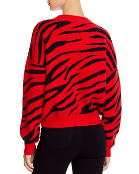 Bardot - Zebra-Stripe Sweater