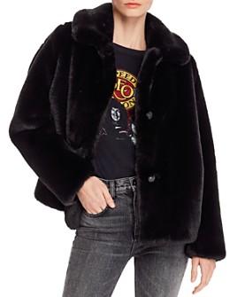 MKT Studio - Collared Faux Fur Coat