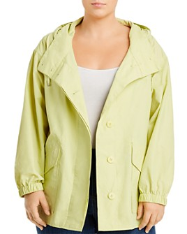 Eileen Fisher Plus - Hooded Mid-Length Jacket