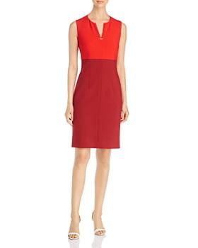 BOSS - Daedalus Two-Tone Sheath Dress