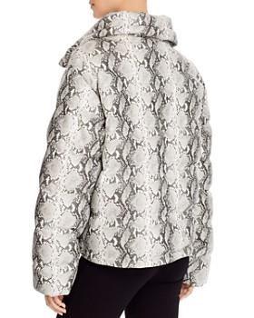 Glamorous - Snake Print Faux Leather Puffer Jacket