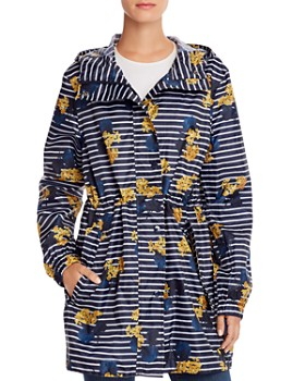 Joules - GoLightly Packable Lilypad Striped Raincoat