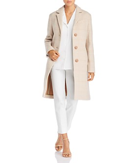 Cinzia Rocca Icons - Plaid Wool-Blend Coat