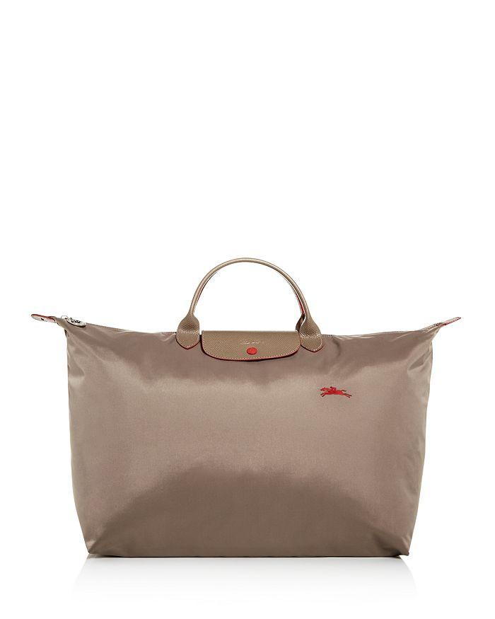 Longchamp Le Pliage Club Large Nylon Travel Bag In Dove Grey