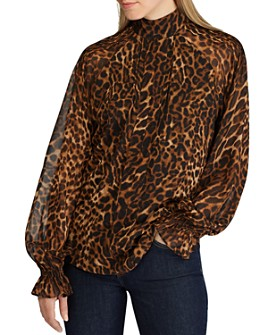 Ralph Lauren - Long-Sleeve Animal-Print Top