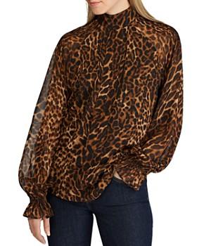 Ralph Lauren - Long-Sleeve Animal-Print Top