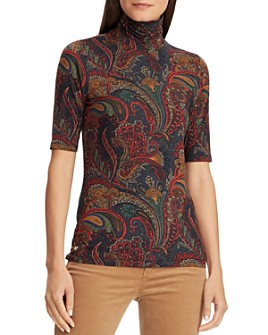 Ralph Lauren - Paisley Turtleneck Top