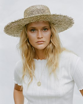 Lack of Color - Sunnydip Frayed Boater Hat