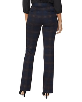 NYDJ - High-Rise Plaid Pants - 100% Exclusive