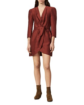 Sandro - Vera Mini Wrap Dress