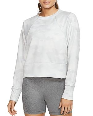 Nike T-shirts ICON CAMO CROPPED SWEATSHIRT