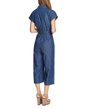 VINCE CAMUTO - Belted Denim Jumpsuit