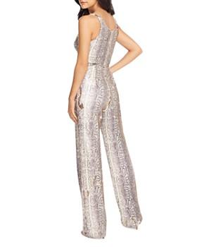 Dress the Population - Python-Print Sequin Jumpsuit