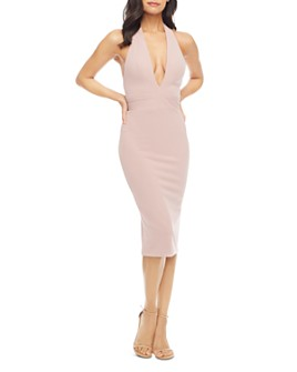 Dress the Population - Halter-Neck Midi Dress