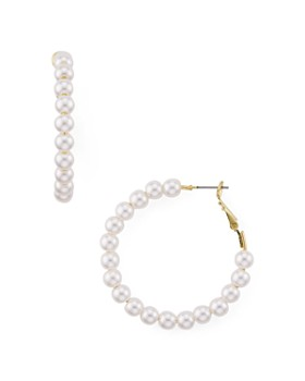 AQUA - Cultured Freshwater Pearl Hoop Earrings - 100% Exclusive