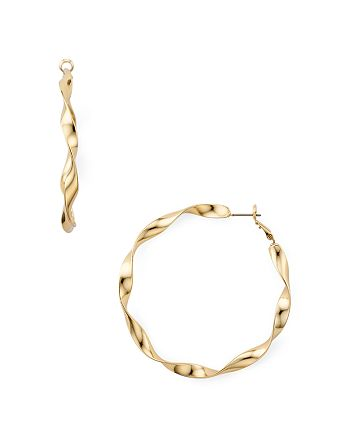 AQUA - Twisted Hoop Earrings - 100% Exclusive