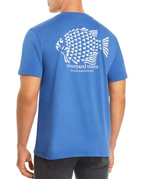 Vineyard Vines - Fish Stamp-Logo Graphic Pocket Tee