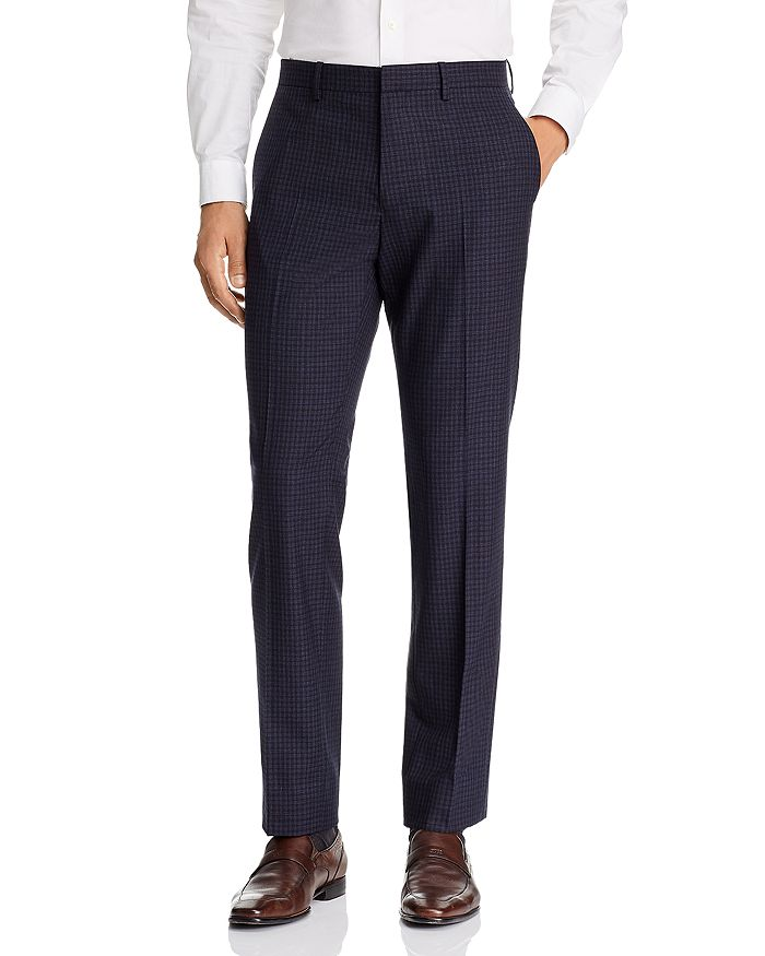 Theory - Mayer Small Check Slim Fit Suit Pants