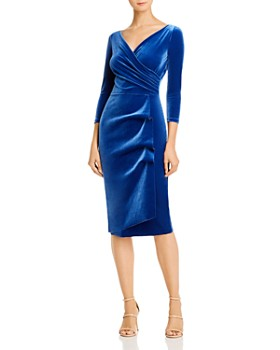 La Petite Robe - Florien Velvet Faux-Wrap Dress - 100% Exclusive