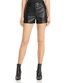 GUESS - Rosetta Embossed Faux Leather Shorts