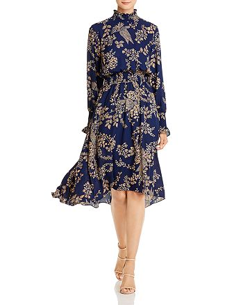 nanette Nanette Lepore - Smocked Floral-Print Dress