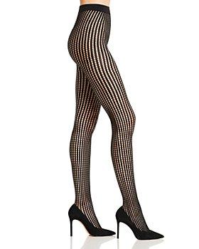 Donna Karan - Vertical Stripe Net Tights