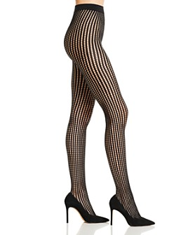 DKNY - Vertical Stripe Net Tights