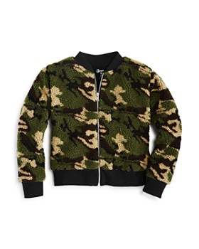 Flowers by Zoe - Girls' Camo Sherpa Bomber Jacket - Little Kid