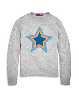 AQUA - Girls' Cashmere Star Sweater, Big Kid - 100% Exclusive