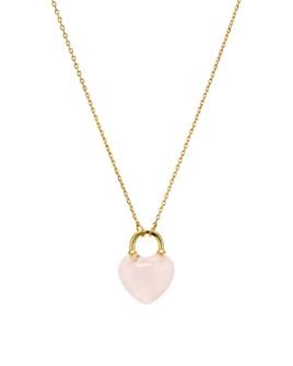 "kate spade new york - Stone Lock Mini Pendant Necklace, 17"""