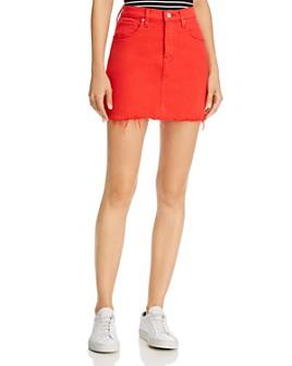Hudson - Viper Denim Mini Skirt in Cherry