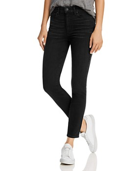 PAIGE - Hoxton Ankle Jeans in Black Willow