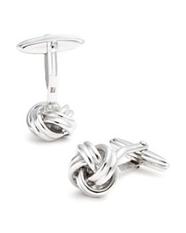 Lanvin - Brass Rhodium Plated Knot Cufflinks