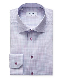 Eton - Plaid Slim Fit Dress Shirt