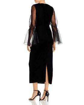 Paper London - Dawn Sheer-Sleeve Lady Lux Dress