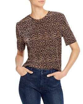 The Fifth Label - Saloon Ribbed Leopard-Print Top