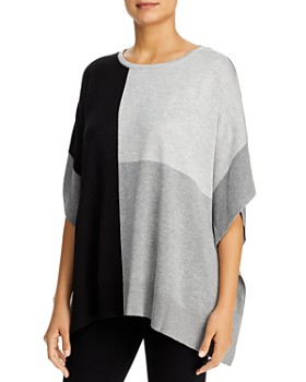 Calvin Klein - Crewneck Color-Block Poncho