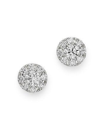 Bloomingdale's - Cluster Diamond Stud Earrings in 14K White Gold, 0.50 ct. t.w. - 100% Exclusive