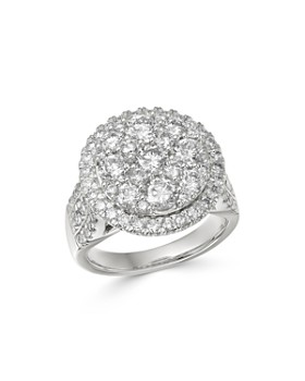 Bloomingdale's - Cluster Diamond Statement Ring in 14K White Gold, 3.0 ct. t.w. - 100% Exclusive