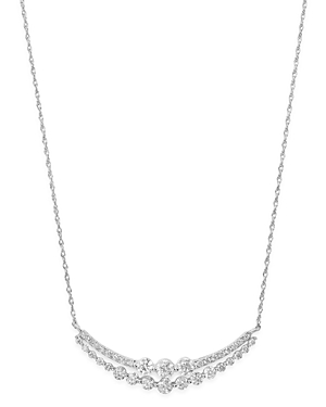 Bloomingdale's Diamond Double Bar Pendant Necklace in 14K White Gold, 0.75 ct. t.w. - 100% Exclusive