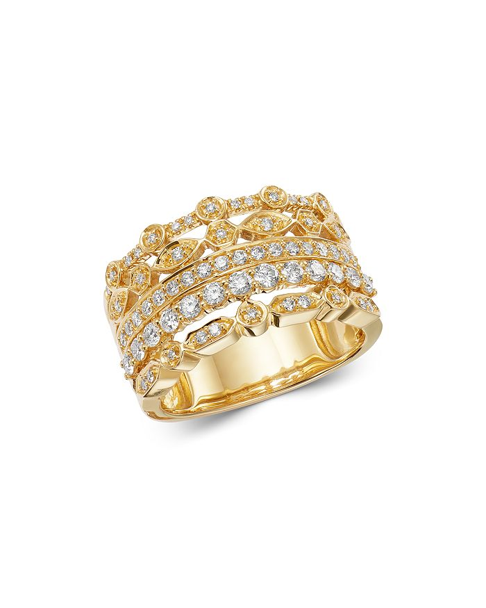 Bloomingdale's - Diamond Multi-Row Band in 14K Yellow Gold, 0.75 ct. t.w. - 100% Exclusive