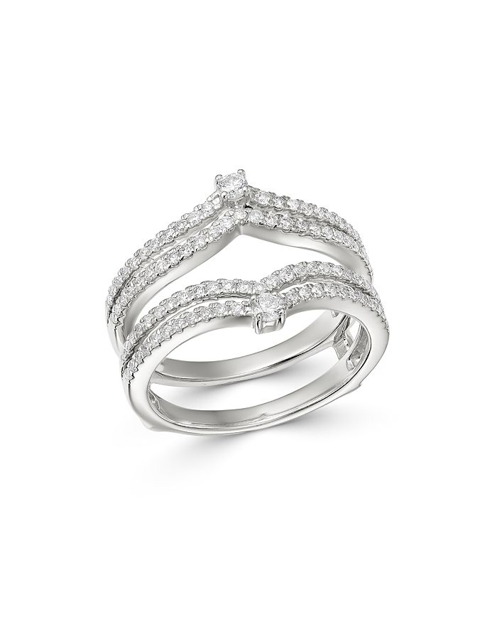 Bloomingdale's - Diamond Chevron Ring Guard in 14K White Gold, 0.60 ct. t.w. - 100% Exclusive