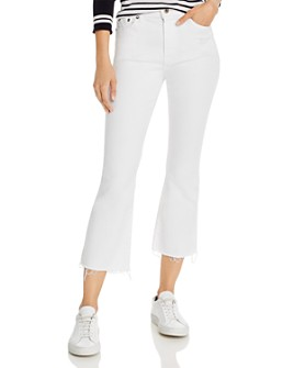 Pistola - Lennon High-Rise Cropped Bootcut Jeans in Winter White - 100% Exclusive