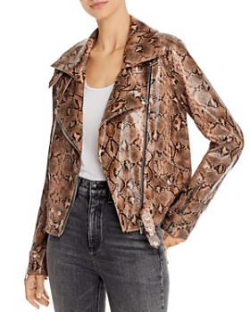 BLANKNYC - Snake Print Faux Leather Moto Jacket - 100% Exclusive