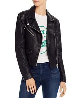 BLANKNYC - Cropped Faux Leather Moto Jacket