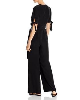 AQUA - Tie-Waist Wide-Leg Jumpsuit - 100% Exclusive