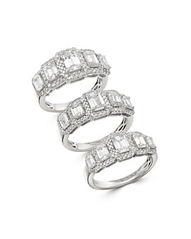 Bloomingdale's - Emerald-Cut Diamond 5-Stone Ring in 14K White Gold - 100% Exclusive