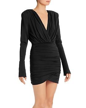Ronny Kobo - Venette Ruched Faux-Wrap Mini Dress
