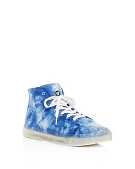 POP SHOES - Unisex Fairmount Light Up Tie Dye Sneakers - Toddler, Little Kid, Big Kid
